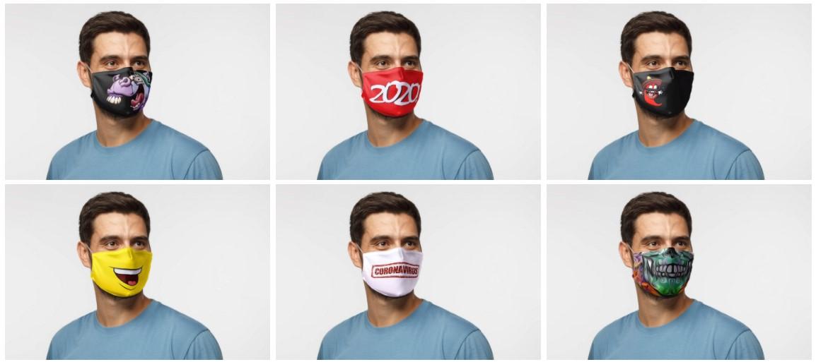 Защитные маски с печатью, маски с логотипом