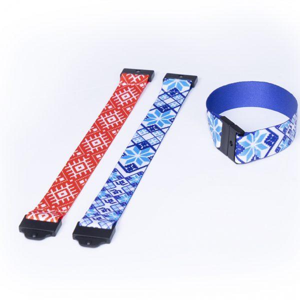 Многоразовые браслеты из ткани с полноцветной печатью