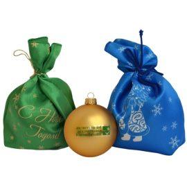 мешочки с печатью для шариков новогодних