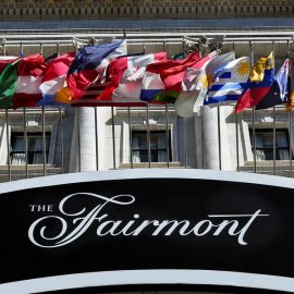 flags-of-the-world-fly-in-front-of-the-historic-fairmont-news-photo-1579108839