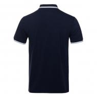 5 поло - унисекс - темно-синий back